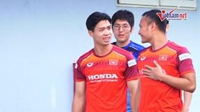 Vừa từ Bỉ về hội quân, Công Phượng sung sức tập luyện đợi đấu Malaysia