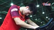 Đình Trọng nhọc nhằn luyện sức với bác sĩ Choi, đợi đấu SEA Games 30