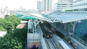Bên trong nhà ga hiện đại tuyến đường sắt đô thị Nhổn - ga Hà Nội