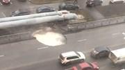Nga: Hố nước nóng 'tử thần' thình lình lộ diện giữa đường tấp nập