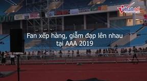 Fan Việt lao như tên bắn vào Mỹ Đình, giẫm đạp lên nhau tại AAA 2019