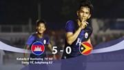 U22 Campuchia chiếm ngôi đầu bảng A sau chiến thắng '5 sao'