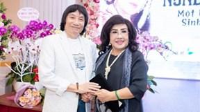 NSND Minh Vương, Thoại Miêu chúc mừng NSND Lệ Thủy ra mắt hồi ký