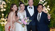 Trường Giang, Nhã Phương mừng đám cưới Hoàng Oanh và chồng Tây