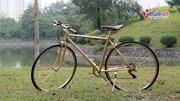 Mục sở thị chiếc xe đạp mạ vàng 9999, giá trăm triệu đồng không bán