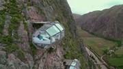 Khách sạn treo mình giữa vách đá 500m bằng 12 sợi cáp