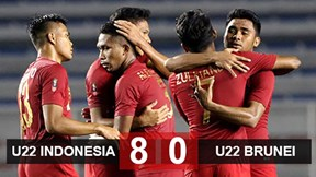 Highlights: U22 Indonesia 8-0 U22 Brunei
