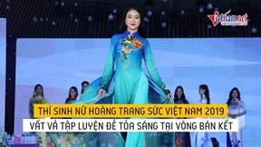 Thí sinh vất vả tập luyện, tỏa sáng tại bán kết Nữ hoàng trang sức 2019
