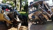 Tai nạn thảm khốc ở Gia Lai: Xe bán tải tông trực diện xe tải, 3 người chết