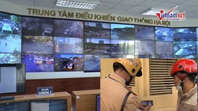 Hà Nội: CSGT tăng cường xử lý 'nóng' qua camera