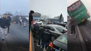 Sương mù, băng tuyết khiến 37 ô tô tông nhau liên hoàn trên cao tốc