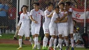 U22 Việt Nam - U22 Indonesia: Văn Hậu lập cú đúp bàn thắng nâng tỷ số 3-0