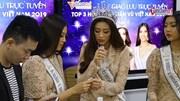 Hoa hậu Khánh Vân nén đau dạ dày giao lưu cùng độc giả VietNamNet