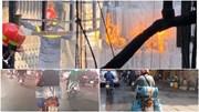 'Xe bom' cháy ngùn ngụt giữa khu dân cư, 'xe bom' lượn vù vù trên phố