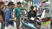 Nhóm thiếu niên 'đầu xanh, đầu đỏ' treo BKS ngược bị cảnh sát 141 bắt giữ