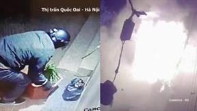 Bọc thuốc phát nổ như bom trước nhà dân ở Hà Nội