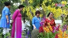 Người lớn, trẻ em nô nức mặc áo dài đi Hội hoa xuân ở TP HCM