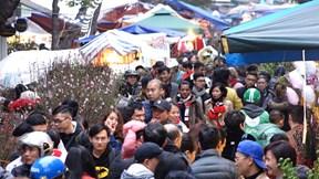 Người Hà Nội đổ về chợ trăm tuổi sắm Tết