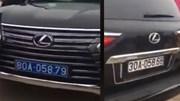 Xe Lexus đầu biển xanh, đuôi biển trắng ở chùa Tam Chúc đeo biển giả