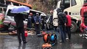 2 xe khách và xe đầu kéo đâm sầm, 1 người chết, 5 bị thương