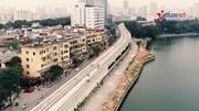 Đường sắt Nhổn – Ga HN hoàn thành 100% đường ray trên cao