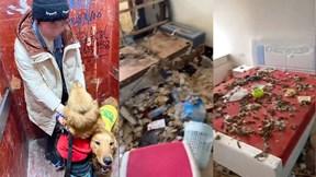 Cô gái trẻ trả lại căn hộ thuê tràn ngập rác, đồ đạc hư hỏng