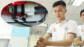 Sinh viên Bách Khoa chế tạo thành công máy sát khuẩn phun tự động