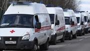 Số ca Covid-19 tăng nhanh, xe cứu thương ùn tắc trước bệnh viện Moscow