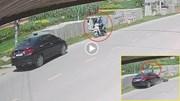Tài xế ô tô say rượu lao sang làn ngược chiều đâm trực diện xe máy