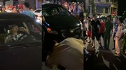 Gây tai nạn, tài xế cố thủ trong xe và liên tục uống nước lọc