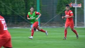Cầu thủ Việt kiều Pháp 1m82 ấn tượng trong buổi tập của U22 Việt Nam