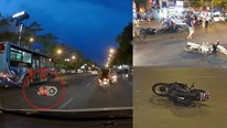 Hà Nội: Ô tô tông văng, kéo lê 7 xe máy chờ đèn đỏ rồi bỏ chạy