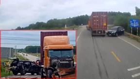 Nghệ An: Xe 7 chỗ đối đầu xe container, 2 trẻ em thương vong