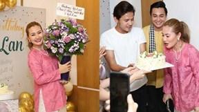 Ngọc Lan nhảy nhót tưng bưng đón sinh nhật tuổi 35 bên đồng nghiệp