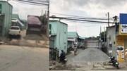 Đồng Nai: Chống đối CSGT, xe tải gắn biển đỏ bỏ chạy, đổ đá xuống đường