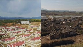 Ngắm ngôi làng 'thần tiên' được tái thiết ngay sau bão lũ ở Triều Tiên