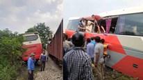 Hà Nội: Thiếu quan sát, xe 45 chỗ đưa đón học sinh va chạm với tàu hỏa