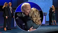Khoảnh khác âu yếm của vợ chồng ông Biden áp đảo nhà TT Trump