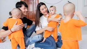 Á hậu Thúy Vân cùng chồng thăm 40 bé mồ côi dịp Trung thu