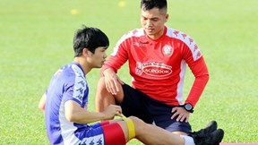 Công Phượng 'mất tích', Bùi Tiến Dũng căng mình tập luyện đợi đấu Hà Nội FC