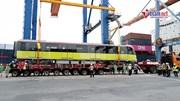 Ngắm đoàn tàu Metro Nhổn - Ga Hà Nội vừa cập cảng Hải Phòng