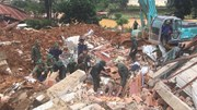 Hiện trường vụ sạt lở khiến 22 cán bộ, chiến sỹ bị vùi lấp ở Quảng Trị
