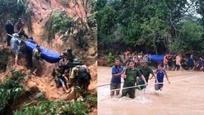 20 giờ cắt rừng, bám dây vượt lũ đưa thi thể đồng đội hy sinh trở về