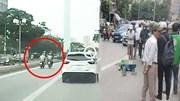 Camera ghi lại nguyên nhân tài xế mặc áo Grab tử vong trên làn BRT