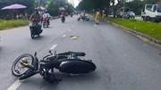 Quái xế 17 tuổi lái xe tông gãy tay trung tá CSGT