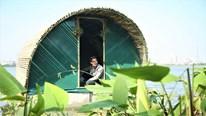 Nhà chống lũ kiểu tàu sân bay được thả nổi thành công tại Hà Nội
