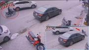 Chuyển làn không xi nhan, 'xế hộp' đốn ngã người phụ nữ đi xe máy