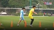 Cầu thủ trẻ xuất sắc nhất V.league bất ngờ tập riêng cùng  bác sĩ