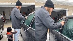 Vợ quay video chồng dùng búa mở cửa xe ô tô