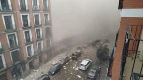 Nổ lớn 'xé nát' một trường học ở thủ đô Tây Ban Nha